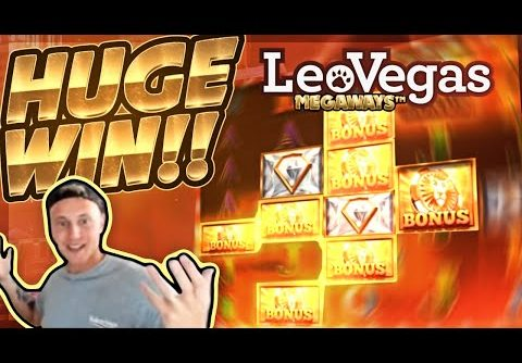 HUGE WIN!!! LeoVegas Megaways Big WIN!! Casino Games from CasinoDaddy Live Stream