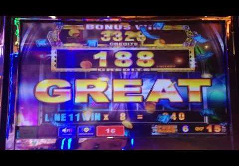 Aruze Gaming Ninja Warrior big win slot machine bonus ($0.30 cent bet)