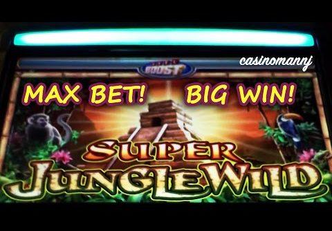 MAX BET! – SUPER JUNGLE WILD SLOT – *BIG WIN* – Slot Machine Bonus