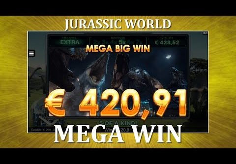 MEGA WIN – Jurassic World – Gyrosphere Valley – NEW SLOT !!