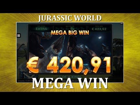MEGA WIN – Jurassic World – Gyrosphere Valley – NEW SLOT !!