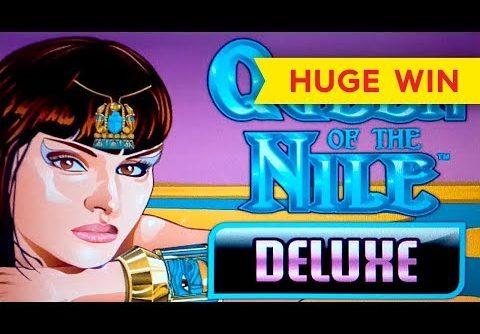 HUGE WIN! Queen of the Nile Deluxe Slot – MAX BET BONUS!