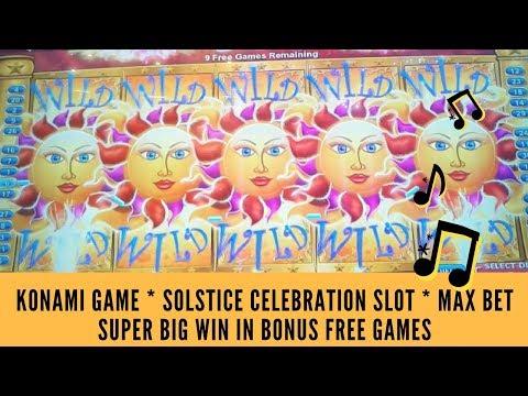 KONAMI GAME * SOLSTICE CELEBRATION SLOT  * SUPER BIG WIN IN BONUS FREE GAMES – SunFlower Slots
