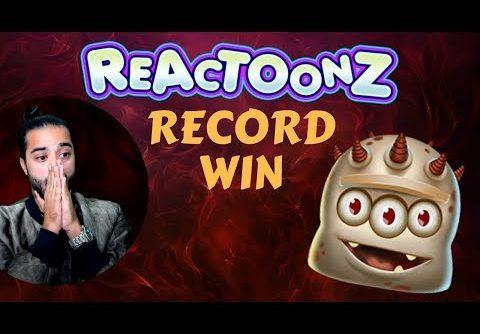 BIG RECORD on Reactoonz – 77K WIN – (Slots online)