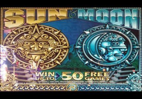 SUPER-DUPER BIG WIN!!!  SUN & MOON Slot Machine Pokie – Almost HandPay!!!! – PECHANGA CASINO
