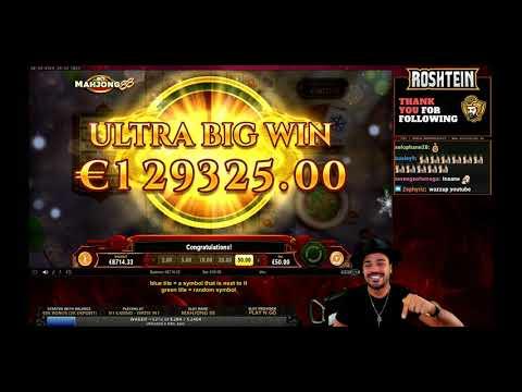 [129k] New record by Roshtein casino win slot Mahjong