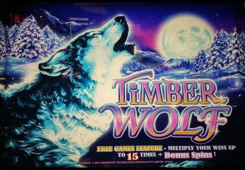 HUGE FRIGGIN WIN On TIMBER WOLF SLOT MACHINE!  PECHANGA CASINO
