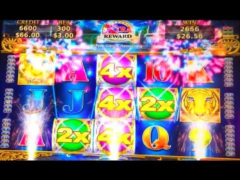 Big Win!! LOTUS LAND Tiger's Winnings Slot Machine (Max Bet!)