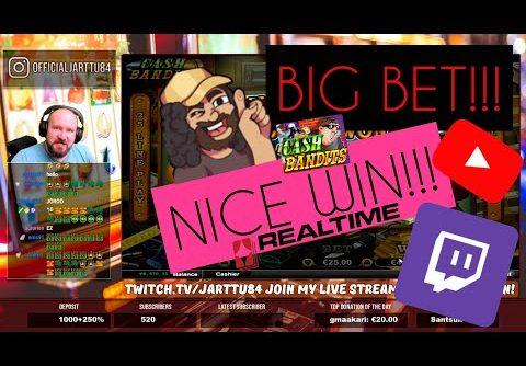 Big Bet!! Nice Win From Cash Bandits Slot!!