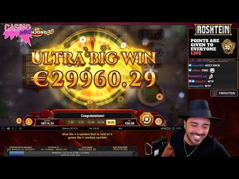 129.000€ NEW RECORD WIN | Roshtein STREAM | New Slot