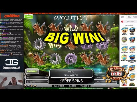 BIG WIN on Evolution Slot – £2 Bet