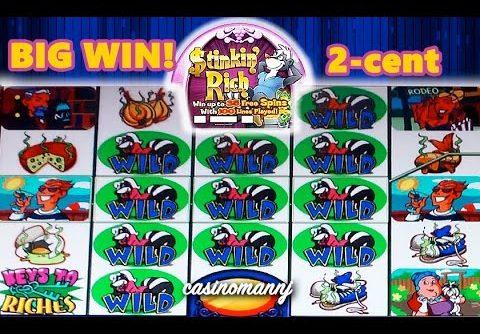 2-cent STINKIN' RICH SLOT – BIG WIN!!! – Slot Machine Bonus