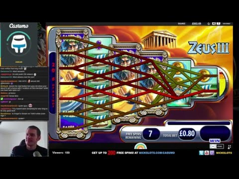 SUPER MEGA WIN on Zeus 3 Slot – £0.80 Bet