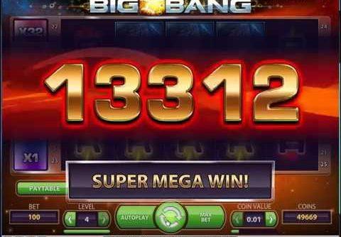 Big Bang Slot- NetEnt – Mega Big Win