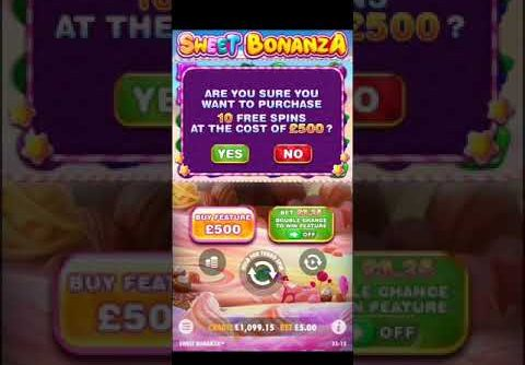 SWEET BONANZA SLOT £500 BONUS BUY BIG WIN!