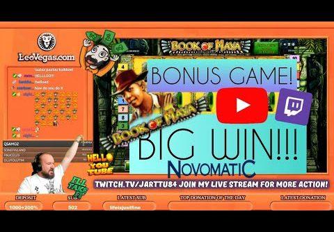 Bonus Game!! Big Win From Book Of Maya Slot!!