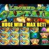 MAX! – Legend of Captain Slot – HUGE SLOT WIN!! – SUPER MEGA WIN – Slot Machine Bonus