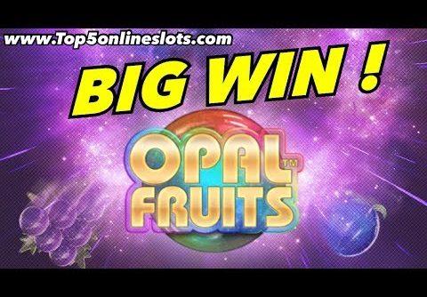 BIG WIN ON OPAL FRUITS SLOT !! – ONLINE CASINO GAME