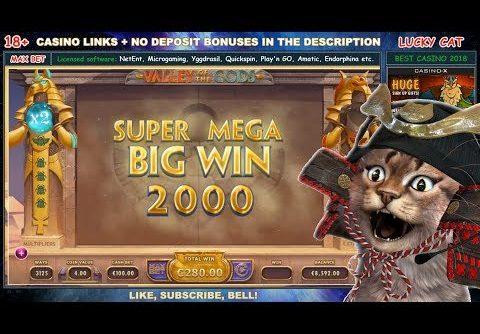 Best slots to play – Big Win Valley Of The Gods (Yggdrasil) – MAX BET CASINO BONUS +8 280€