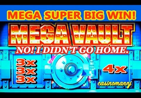 MEGA VAULT SLOT *MEGA SUPER BIG WIN** -NO! I DIDN'T GO HOME. – Slot Machine Bonus