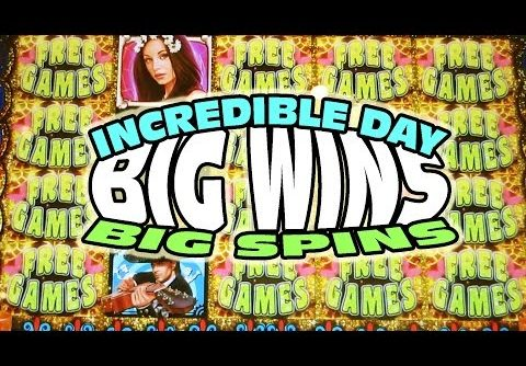 INCREDIBLE DAY OF BIG WINS AND BIG SPINS – Slot Machine Bonus Big Win Videos