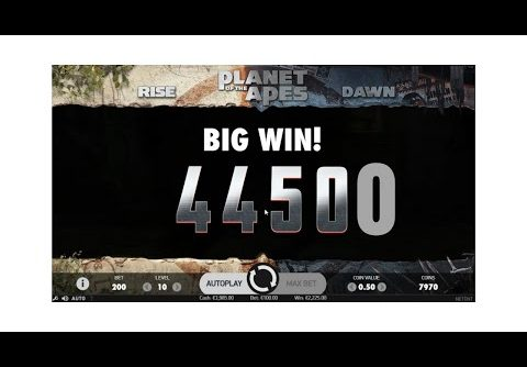 Slot : Planet Of The Apes  €100 Bet Huge Wins