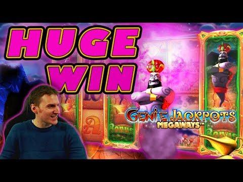 HUGE WIN on Genie Jackpots Megaways Slot – £4 Bet