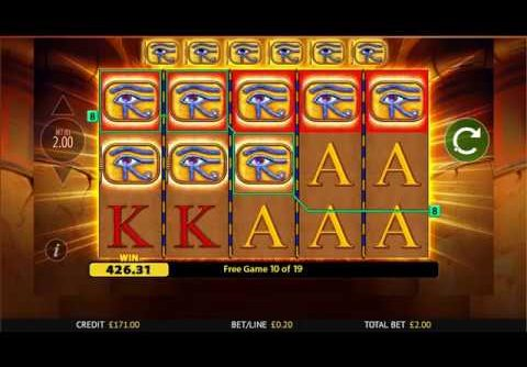 Eye of Horus Slot – Big Win – Blueprint Gaming