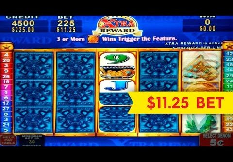 Mayan Chief Slot – $11.25 Max Bet – WHAT A REVEAL! BIG WIN!!