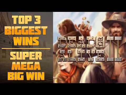DEAD OR ALIVE 2 SLOT – TOP 3 BIGGEST WINS IN CASINO! BIG JACKPOT!