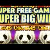 SUPER BIG WIN!! GREEN SUPER FREE GAMES ON CHINA SHORES GREAT STACKS Slot Machine Bonus (KONAMI)
