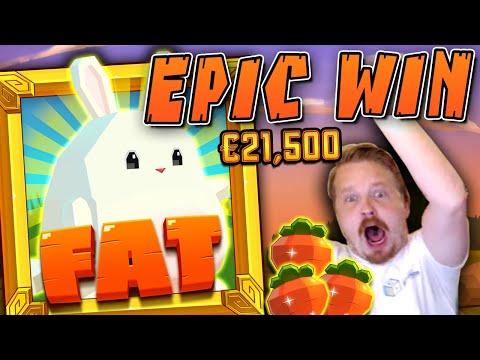 SUPER MEGA WIN IN FAT RABBIT (FULL SCREEN!!)