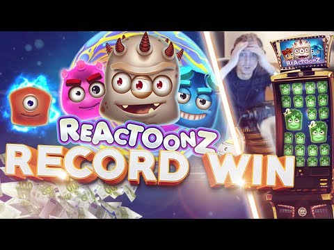 RECORD WIN!!! Reactoonz BIG WIN – Casino – Bonus Round (Huge Win)