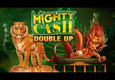 SUPER BIG WIN on MIGHTY CASH DOUBLE UP SLOT MACHINE POKIE BONUSES + FEATURES!