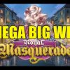 Online slots MEGA WIN 1.5 euro bet – Royal Masquerade HUGE WIN with epic reaction