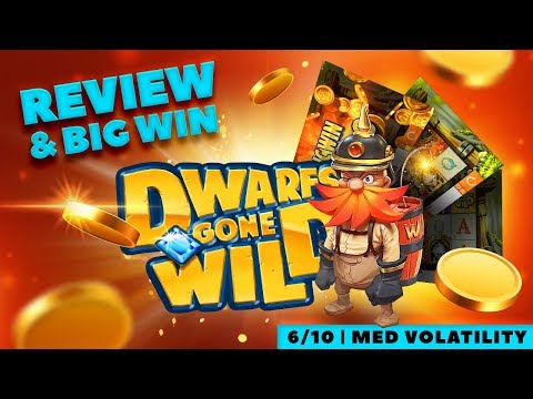 Dwarfs Gone Wild Slot Review (Quickspin) and BIG WIN
