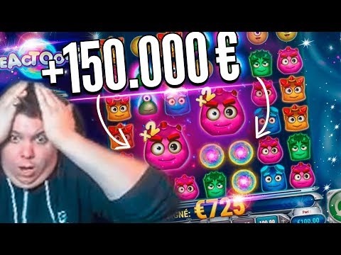 New World Record Win 150.000€  on Reactoonz Slot – Top 5 Biggest Wins of week