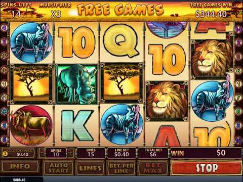 Safari Heat – Playtech slot big win