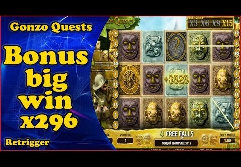 Gonzo big win bonus x296. Netent slot