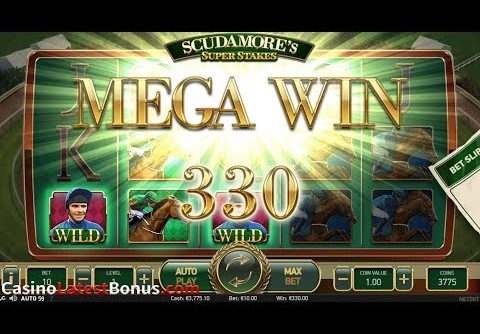 Scudamore's Super Stakes slot NetEnt (FREESPINS, BONUSES, BIGWIN, MEGAWIN, SUPERBIGWIN)