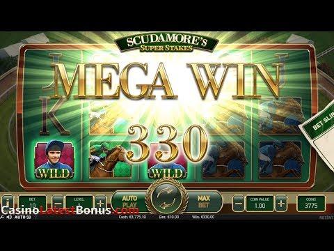 Scudamore's Super Stakes slot NetEnt (FREESPINS, BONUSES, BIGWIN, MEGAWIN, SUPERBIGWIN)