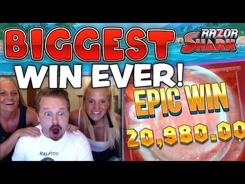 SUPER MEGA WIN – RAZOR SHARK (MY BIGGEST EVER SLOT WIN!!!)
