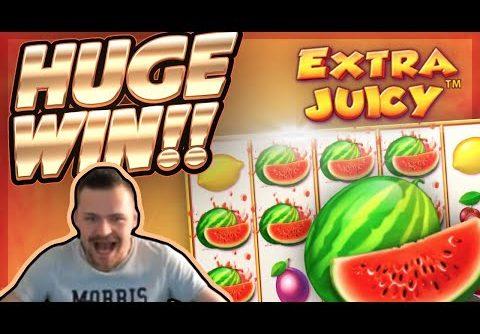 HUGE WIN!!! Extra Juicy BIG WIN!! Online Slot from CasinoDaddy Live Stream
