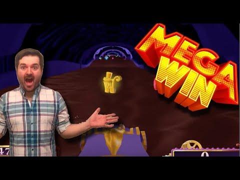 mega win! Willy Wonka Slot Machine Bonus – Chocolate River – HUGE Win!!!