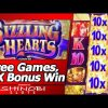 Sizzling Hearts Slot – Super Big Win with 10x Wilds, 3 Free Spins Bonuses