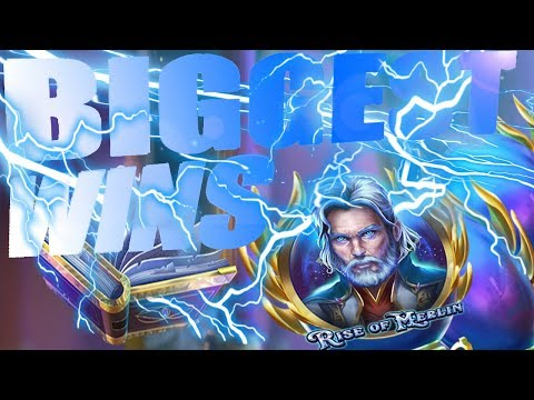 Top 5 biggest wins of Rise of Merlin Slot 2019 Play`n Go