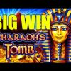 ONLINE CASINO Pharaoh's Tomb Big Win – mega win – (betsize example 2 euro bet) – Epic reactions