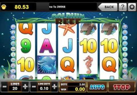 MEGA WIN wiht DOLPHIN REEF slot game | 3Win8 Casino | 3Win8 Mobile
