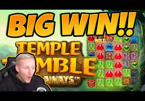 Huge Win! Temple Tumble BIG WIN – Epic Win on Online slots from CasinoDaddy LIVE Stream