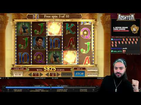 EPIC NEW RECORD ROSHTEIN on Book of Dead Slot   107K Win!